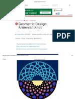Geometric Design Armeninan Knot