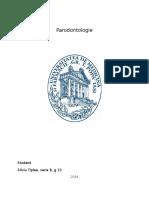 Silviu Tiplea G13 Parodontologie