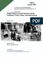 MOSER, Caroline. BRONKHORST, Bernice Van. Youth Violence in Latin America and The