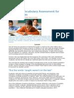 Classroom Vocabulary Assessment
