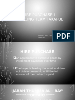 Hire Purchase-i Reducing Term Takaful