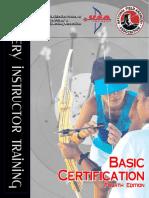 Archery instructor training Basic Cert 4th edition