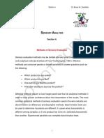 Sensory Analysis - Section 4