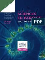 Programme de L'Espace Mendès France, janvier 2017