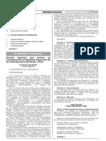 Decreto Supremo que declara en reorganización la Central de Compras Públicas - PERÚ COMPRAS