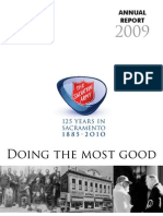 Salvation Army Sacramento Annual Report 2009