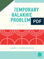 Contemporary Halakhic Problems Excerpt