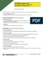 Nouveautés COVADIS & AutoPISTE Version 13