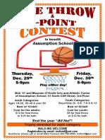 Assumption Basketball Free Throw 3 Point Contest Poster Final
