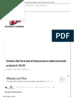 Raúl Tola Le Cobró Al Estado Peruano en Calidad de Proveedor S_. 451