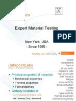 DatapointLabs... expert material testing