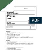 Edexcel GCSE (9-1) Physics SP4 Waves Test With Mark Scheme 16_17