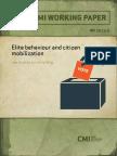5607 Elite Behaviour and Citizen Mobilization