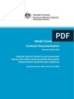 2008 Model Tender and Contract Documentation