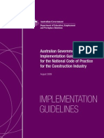 National Code DEEWR Implementation Guidelines 2009