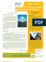 SCGH Newsletter Special Edition Renewable Energy