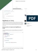 RigidBody en Unity - Iris3D Games Studios
