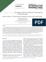 Managing CR in the Social Media Era (Introducing the Social CRM)