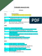 Actividades Anuales 2015-Agenda