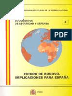 002 Futuro de Kosovox Implicaciones Para Espana