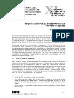 Adquisicion por la Sociedad de sus Propias Acciones.pdf