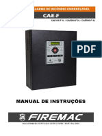 Manual Central Alarme Incendio Endereçavel Cae f 500