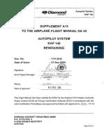 Autopilot Kap140 Bendixking for Da42