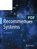 Recommender Systems the Textbook