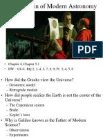 2 - Origin of Modern Astronomy (1)