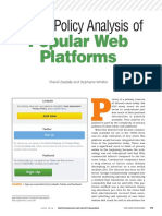 Privacy Policy Analysis of Popular Web Platforms