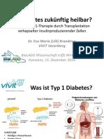 $PMCB BRANDTNER_BioLAGO Wissenschaft Trifft Wirtschaft 2016 (Is diabetes to be cured in the future?)