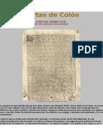 Cartas de Colón