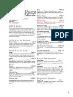 LotR LCG FAQ 1.8 Printer Friendly