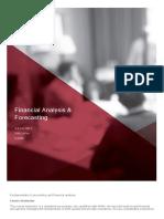 Financial Analysis %26 Forecasting