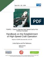 Hand Book of Establishment of Hight Speed Craft Operation