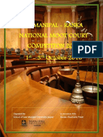 2nd Manipal Ranka Moot Brochure
