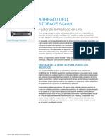 DellStorage SC4020 Spec Sheet 041216 ES XL