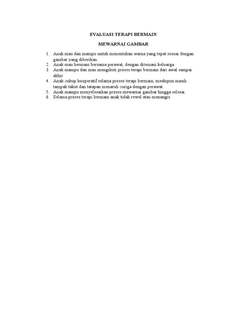 Evaluasi Terapi Mewarnai