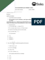 Examen Math