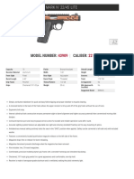 Ruger Bronze Anodized Mark IV 22/45 Lite Pistol Specs