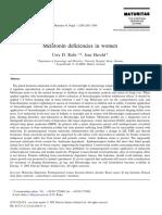Melatonin Deficiencies in Women