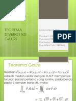 Kalkulus Vektor Teorema Divergensi Gauss