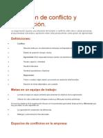 Definición de Conflicto y Negociación