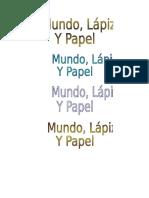 Modelos de Los Titulos Del Libro
