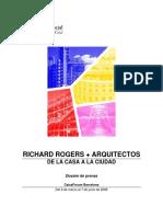 Nota de Prensa Richard Rogers Arquitectos de La Casa a La Ciudad
