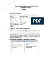 Sílabo - Desarrollo de Aplicaciones Web II