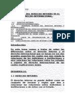 Trabajo de Derecho Interno y Derecho Internacional de Derecho Internacional Publico