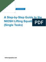 NIOSH Lifting Equation STEP by STEP NLE-Single-Task-Guide-V-2.0