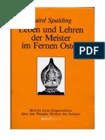 SPALDING, Baird - Leben und Lehren der Meister im Fernen Osten