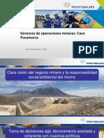Conferencia Gerencia de Operaciones Mineras